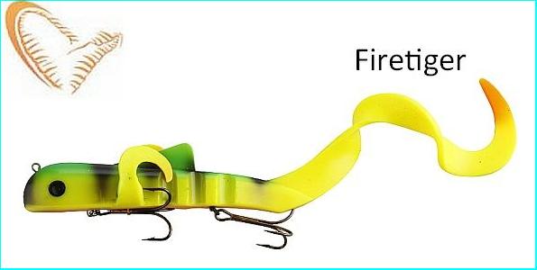 Savage Gear Alien Eel V2 40cm 220g Fire Tiger NL
