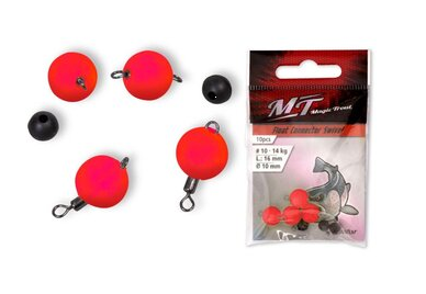 Magic Trout Float Connector Swivel RED