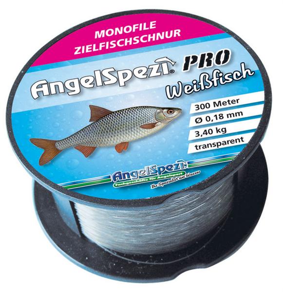 AngelSpezi Pro Zielfischschnur Weißfisch 300m / transparent