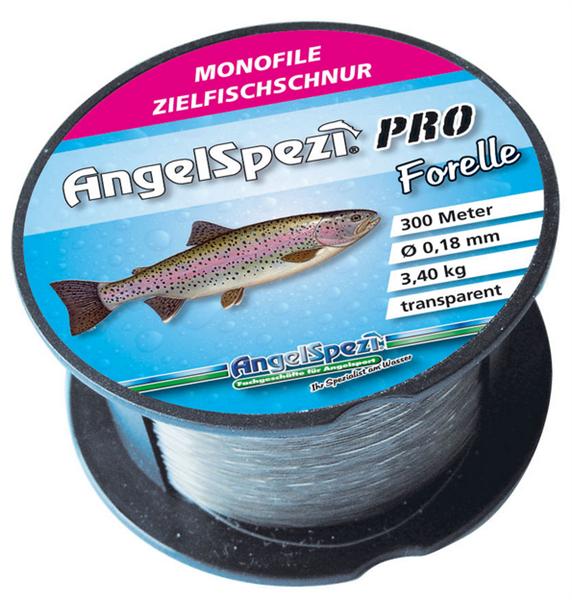 AngelSpezi Pro Zielfischschnur Forelle 300m / transparent