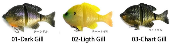 3D Blue Gill 150 Dark Gill Restposten