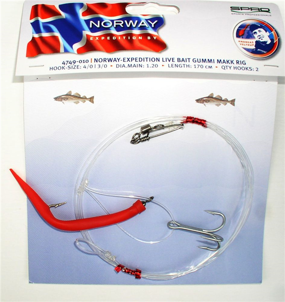 NORWAY-EXP LIVE BAIT RIG/GUMMI MAKK