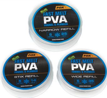 FOX Edges Fast Melt PVA Funnel & Plunger Stix Refill 14mm / 5 Meter