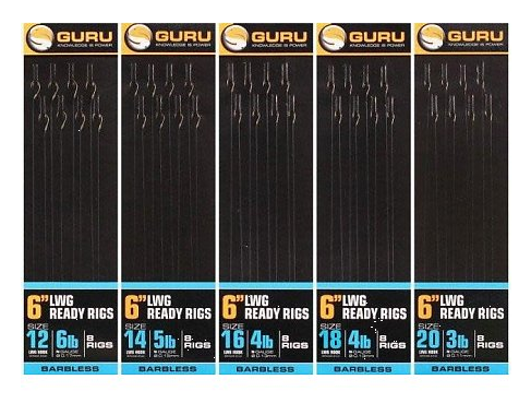 "Guru LWG Ready Pole Rigs 6"" Barbless"