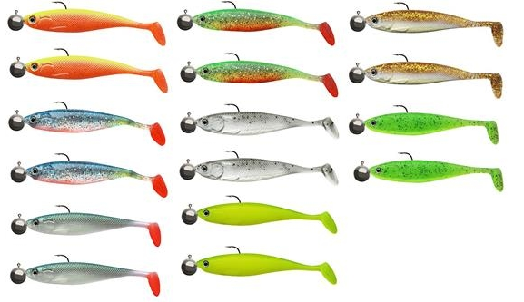 """Cormoran ActionFin Shad 13cm """"Ready to fish"""" 2er Pack"""