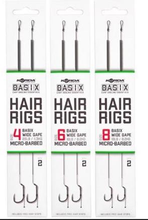 Korda Basix Hair Rigs Wide Gape