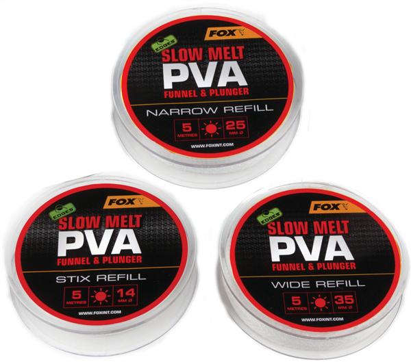 FOX Edges Slow Melt PVA Funnel & Plunger Stix Refill 14mm / 5 Meter
