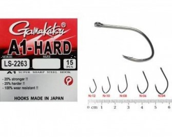 GAMAKATSU HOOK A1 LS-2263 NSB RING EYE