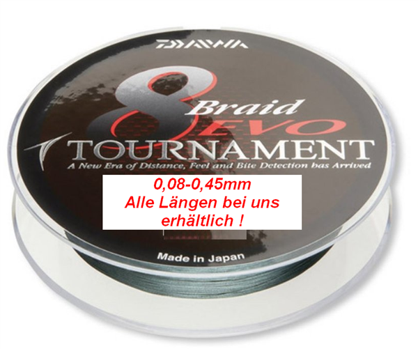 Daiwa 8-Braid EVO Tournament (dunkelgrün)