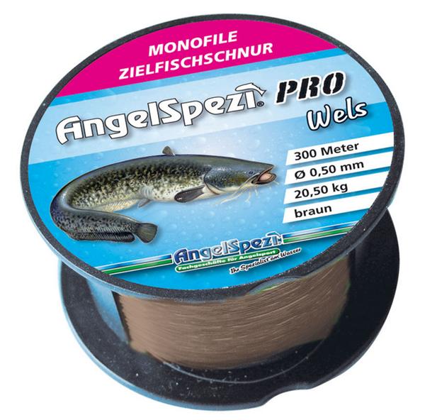 AngelSpezi Pro Zielfischschnur Wels 300/200m braun