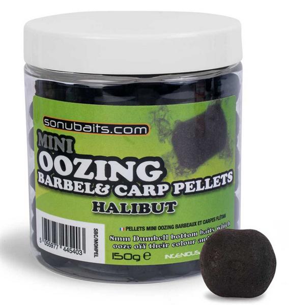 Sonubaits Mini Oozing Barbel & Carp Pellets Halibut 8mm